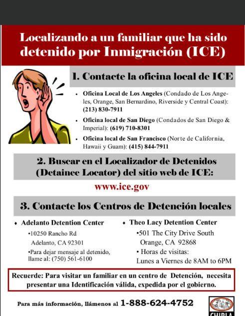 Cómo actuar en caso de que algún familiar sea deportado