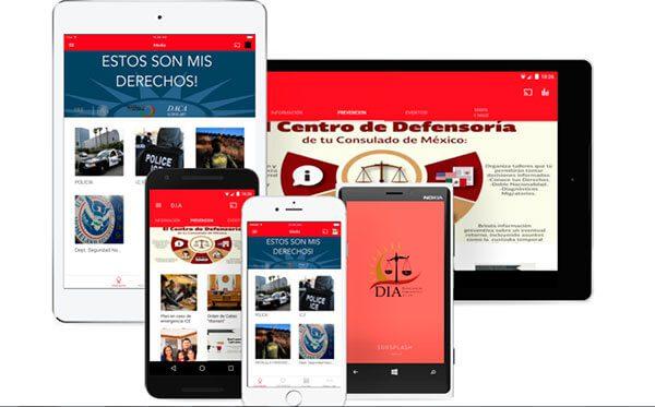 """Lanzan aplicación móvil creada por """"dreamers"""" para informar a inmigrantes de sus derechos"""