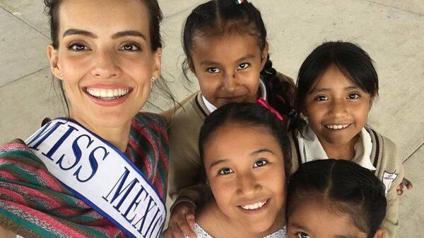 Mexicana que gana el certamen Miss Mundo 2018 colabora con organización que apoya a migrantes
