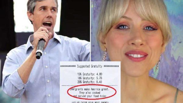 Beto O'Rourke y Holly Tuggy viralizan ticket en apoyo a inmigrantes