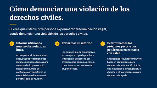 Gobierno norteamericano lanza página web antidiscriminatoria